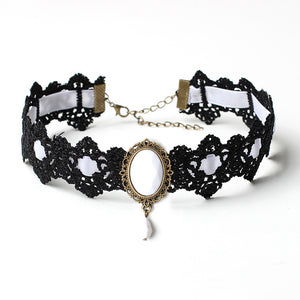 Bohemia Lace Tattoo Choker Necklace Crystal Necklaces Gothic Punk Choker