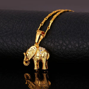 Elephant Necklaces gold or platinum plated with high quality Austria Rhinestones