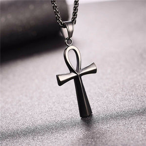 Ankh necklace stainless steel 316L black plated