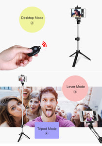 Foldable Mini Selfie Stick Self Selfie Set