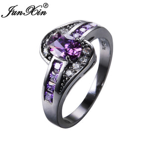 Purple Oval Ring CZ AAA Zirkonia for woman