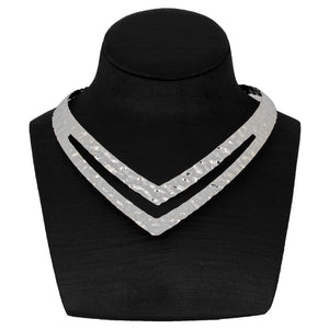 Fashion Silver Color Statement Power Necklace Choker Necklace Women Jewelry