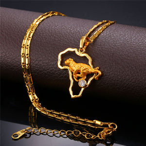 Leopard necklace gold plated or platinum plated and high quality zirconia