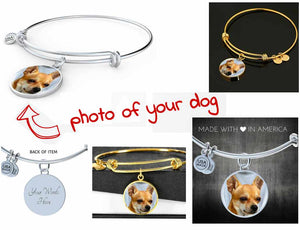 Own Designed Luxury Dog Circle Pendant Bangle