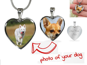 Own Designed Luxury Dog Heart Necklace Made In USA