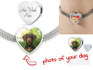Own Designed Luxury Dog Heart Steel Bracelet Made In USA