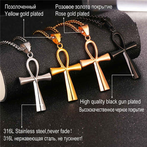 ANKH NECKLACE STAINLESS STEEL 316L