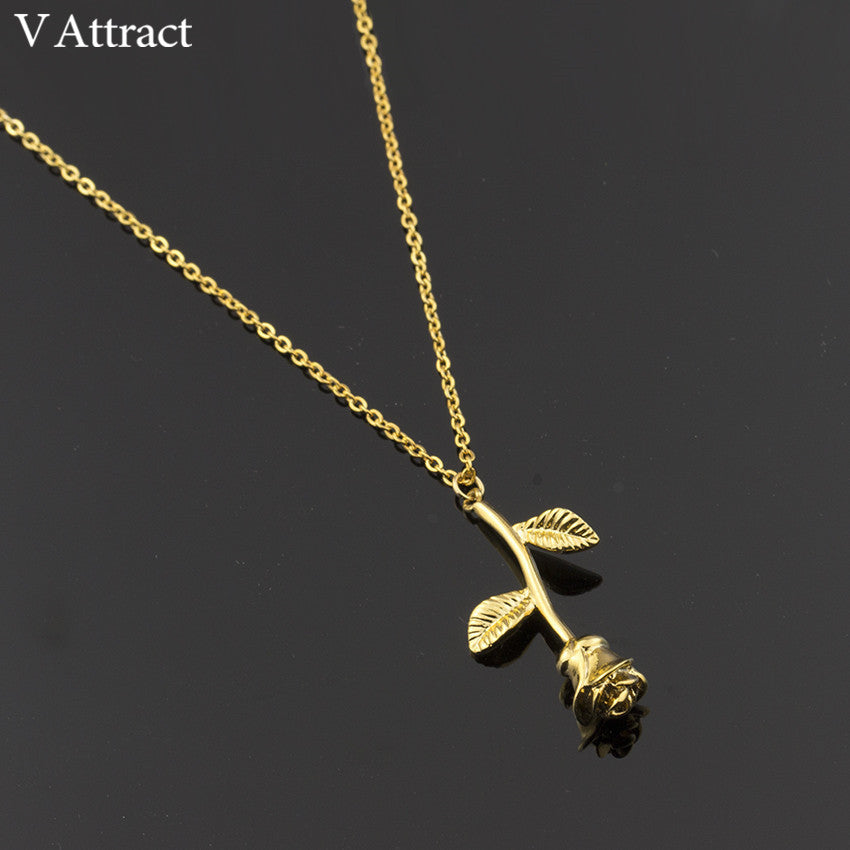 Rose Flower Statement Necklace For Women