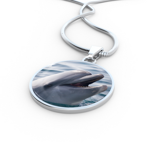 Luxury Dolphin Pendant Necklace Or Bracelet (Made in USA)
