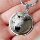 Luxury Wolf Pedant Necklace or Wolf Bracelet (Made in USA)