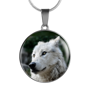 Luxury Wolf Necklace Pendant Or Bracelet (Made in USA)