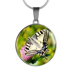 Luxury Butterfly Pendant Necklace Or Bracelet (Made in USA)