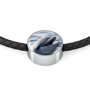 Luxury Dolphin Leather Bracelet (Made in USA)