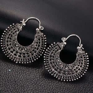 Vintage Silver Color Earrings For Women