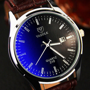 Luxury Quartz Men Watch Leather Band