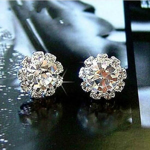 Women's Fashion Sparkling Rhinestone Ball Earrings Stud Earring