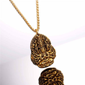Avalokitesvara Bodhisattva Necklace Pendant For Men/Women gold  plated variant 2