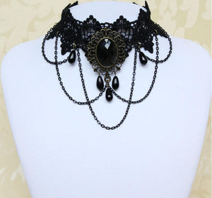 Gothic Choker Necklace Vintage Tattoo Punk Style
