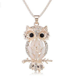 Stylish Gallant Sparkling Owl Crystal Necklaces & Pendants For Women