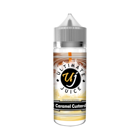 Caramel Custard  E-Liquid by Ultimate Juice  100ml 0mg (120ml with nicotine kit)