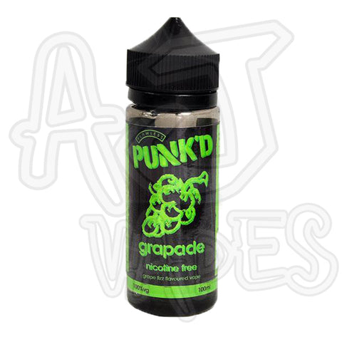 PUNK'D Grapade 100ml 0mg Shortfill FREE NIC SHOT