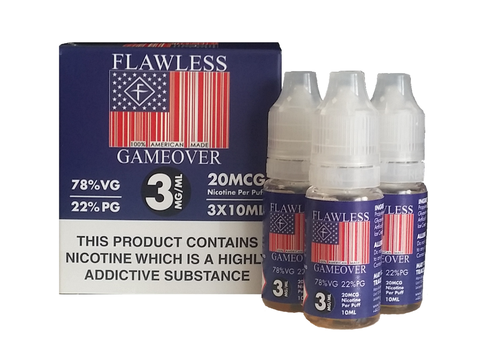 Game Over by Flawless 3 x 10ml Multipack TPD Compliant 3mg  E-liquids