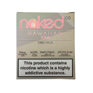 Hawaiian Pog E-Liquid by Naked 100 E Juice (Pack Of 3 X 10ml)
