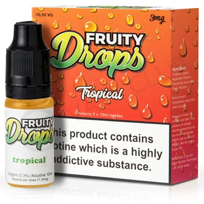Fruity Drops Tropical 3mg 30ml 3x10ml  E-liquids