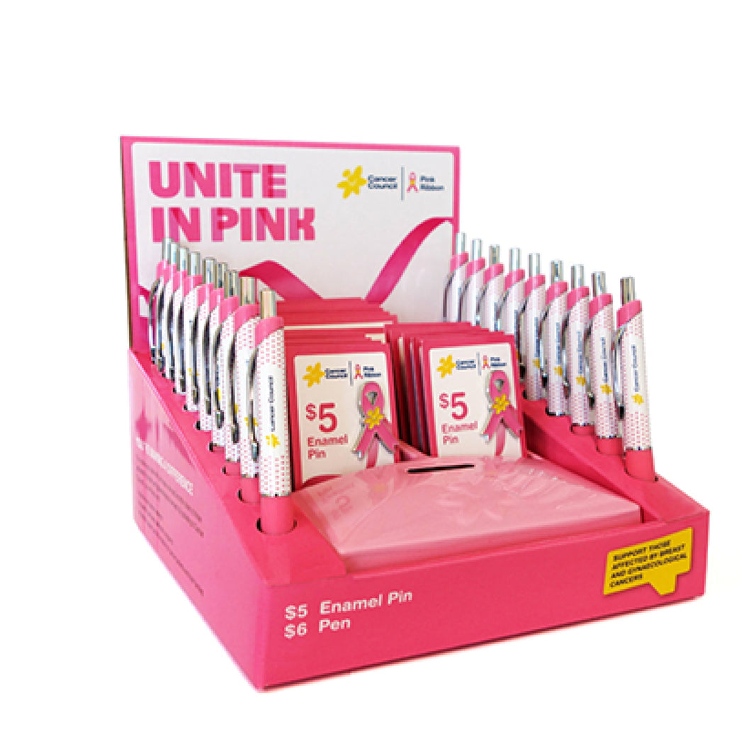 Pin and pen merchandise box