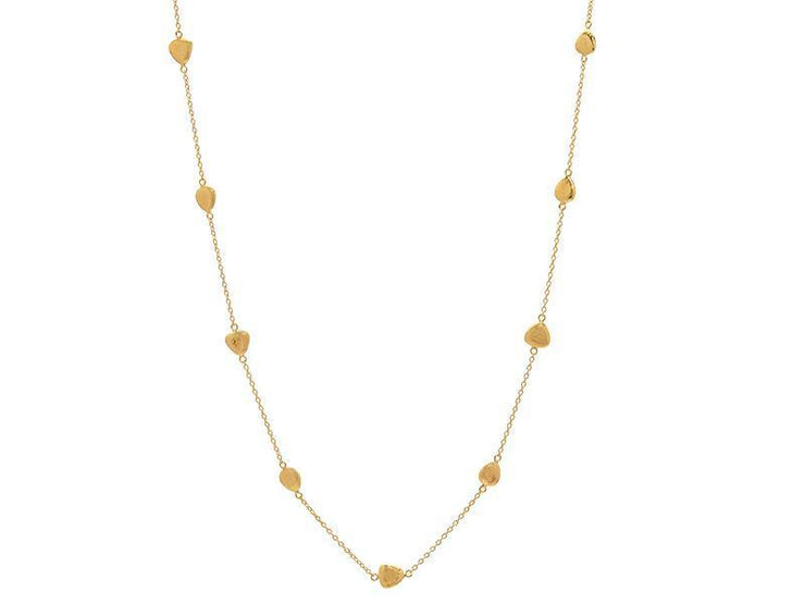 GURHAN Spell Gold Necklace, Short Amorphous, Station with No Stone
