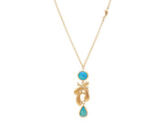 GURHAN Aquarius Gold Necklace, feature Pendant with Opal-Necklace-GURHAN-24k-gold-pure-gold-luxury-gold-24-karat-gold