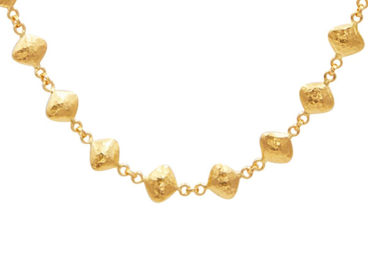 GURHAN Trellis Gold Necklace, linked All Around with No Stone-Necklace-GURHAN-24k-gold-pure-gold-luxury-gold-24-karat-gold