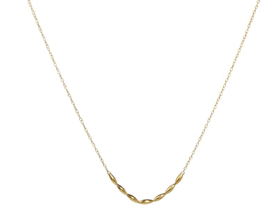 GURHAN Wheat Gold Necklace, Beaded, Front Focus with No Stone