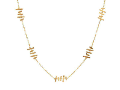 GURHAN Mikado Gold Necklace, feature Station with No Stone-Necklace-GURHAN-24k-gold-pure-gold-luxury-gold-24-karat-gold