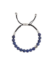 John Varvatos x GURHAN  Crack Sterling Silver Bracelet, beaded Adjustable with Lapis