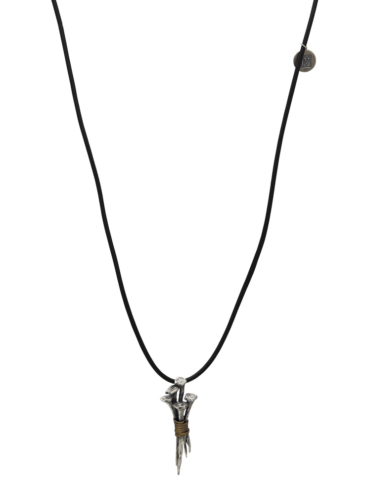 John Varvatos x GURHAN  Nails Sterling Silver Necklace, cluster Pendant with No Stone