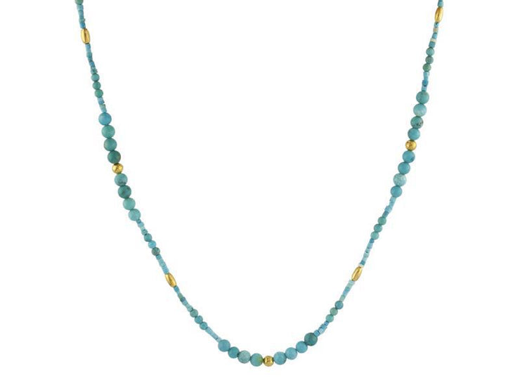 GURHAN Flurries Gold Necklace,  Beaded with MultiStone