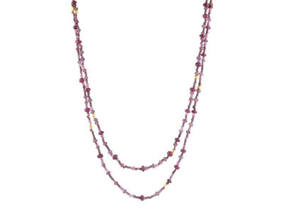 GURHAN Flurries Gold Necklace,  Beaded with Sapphire