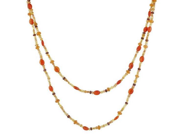 GURHAN Flurries Gold Necklace, Beaded with MultiStone-Necklace-GURHAN-24k-gold-pure-gold-luxury-gold-24-karat-gold