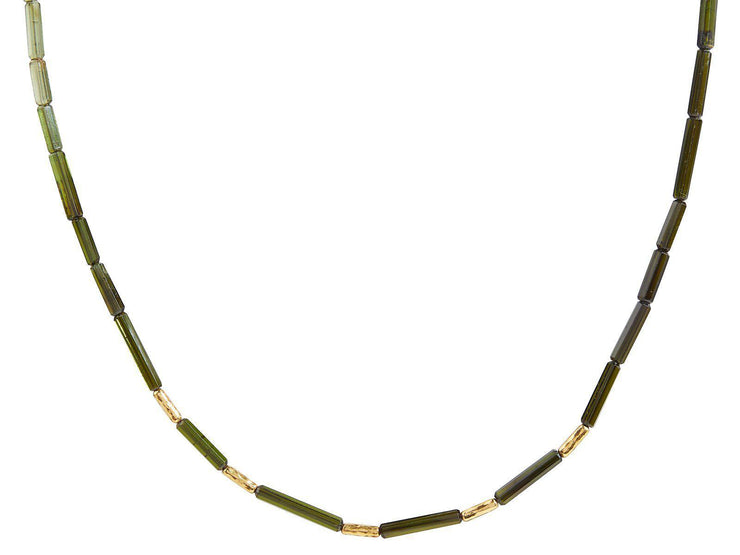GURHAN One-of-a-Kind Flurries Gold Necklace, Beaded with Tourmaline-Necklace-GURHAN-24k-gold-pure-gold-luxury-gold-24-karat-gold