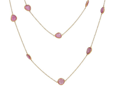 GURHAN One-of-a-Kind Elements Gold Necklace, Station with Tourmaline-Necklace-GURHAN-24k-gold-pure-gold-luxury-gold-24-karat-gold