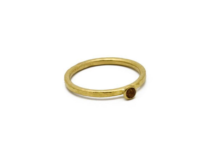 GURHAN Rain Gold Ring, Stacking with Citrine-Ring-GURHAN-24k-gold-pure-gold-luxury-gold-24-karat-gold