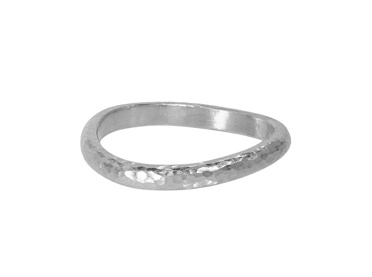 GURHAN Twist Sterling Silver Ring, 'unkissed' Band with No Stone- and 'kissed' with 24k Gold.-Ring-GURHAN-24k-gold-pure-gold-luxury-gold-24-karat-gold