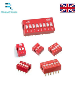 1/2/3/4/5/6/8 Way ON/OFF DIL DIP Switch PCB Toggle Snap Switches