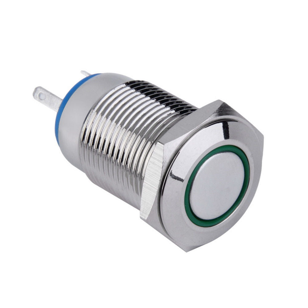 New Angel Eye Led 16mm Push Button Switch Car Dash 12v Ring Light Switches Large 10mm Latching Red Self