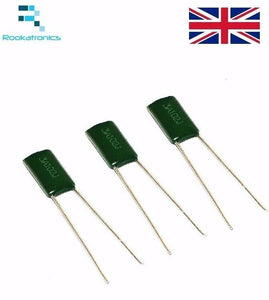 Polyester Film Capacitor 1000V Rate - Values between 1NF- 10NF