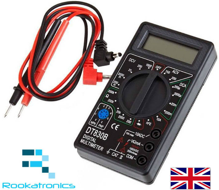 New LCD Digital Multimeter Voltmeter Ammeter Ohmmeter Tester with Leads
