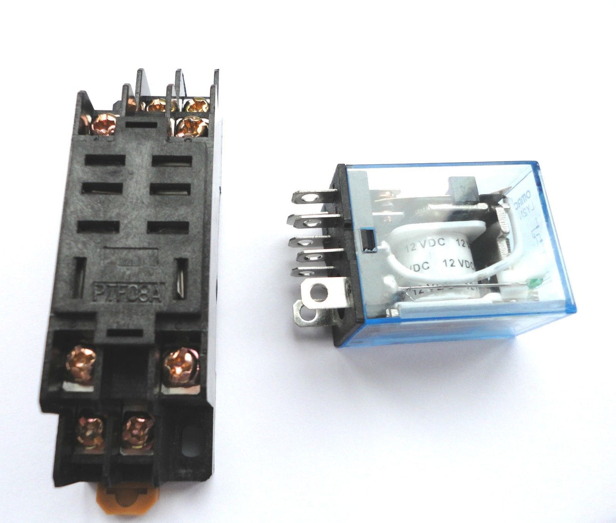 12v Dc 8 Pin Relay Dpdt With Socket Base Included High