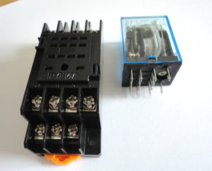 24VDC Coil Power Relay 14 Pin 4PDT 5A 240VAC with Socket