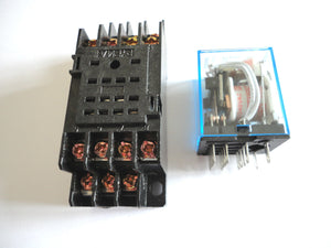 240VAC Coil Power Relay 14 Pin 4PDT 5A 240VAC with Socket